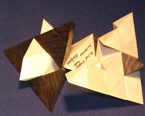 dual tetrahedra pieces